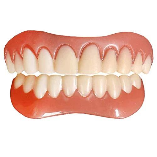 Zahnersatz Provisorischer Ober und Unterkiefer Quick Zahnprothese Instant Smile Zähne für Oberkiefer und unten, Reparieren Sie schnell Ihre Zahn und Lächeln