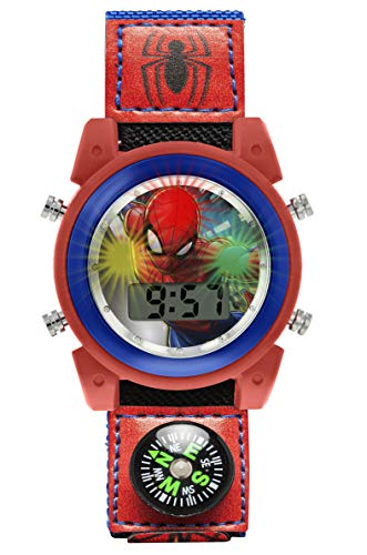 Spiderman Unisexe Enfants Digital Montre avec Bracelet en Tissu SPD4586