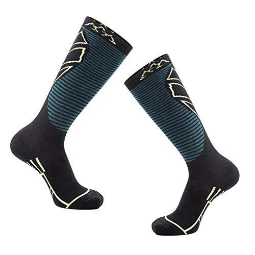 JFF Skisocken Warme Baumwollsport-Outdoor-Socken Für Den Winter Skifahren Snowboarden Skaten Wandern Angeln Wandern Radfahren,D,M