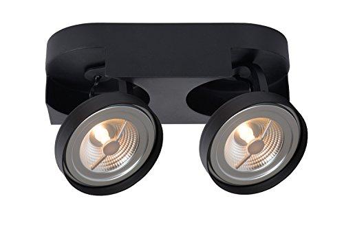 Lucide VERSUM AR111 - Spot plafond - LED Dim. - AR111 - 2x10W 2700K - Noir