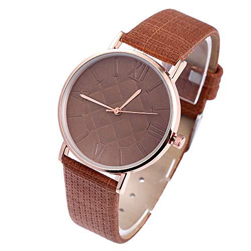 SANDA Reloj Hombre,Cinturón de Malla de aleación Reloj Reloj de Cuarzo Simple y versátil-Marrón de los Hombres