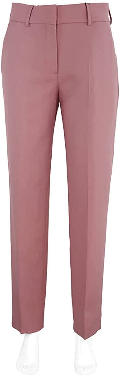 Burberry Ladies Chalk Pink Straight Fit Wool Blend Tailored Trousers, Brand Size 10 (US Size 8)