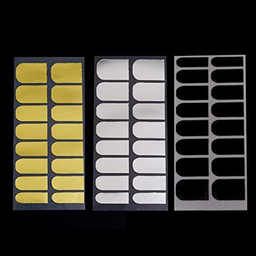 Dailyinshop 3 Feuille 2015 Vente Chaude DIY Nail Autocollants Décor Patch Foils Armure Wraps Décoration 3 Métal Couleurs Noir Or Argent Beauté