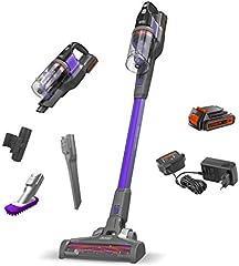 BLACK+DECKER BDPSE1815P-QW - Aspirador de escoba sin cable Power Series Extreme 18V, con batería litio 1.5Ah, especial mascotas