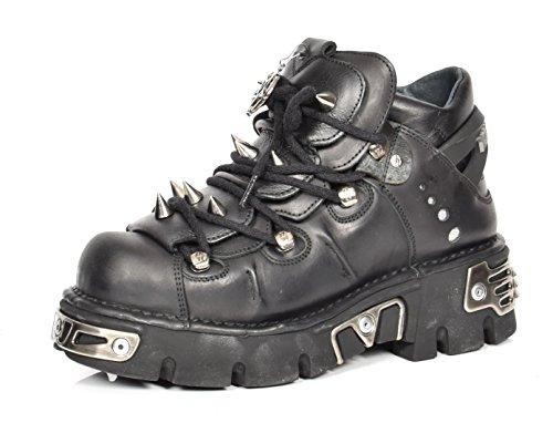 A1 FASHION GOODS A1110S1 Black, Bottes Motard mixte adulte - Noir - Noir , 42 2/3 EU