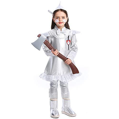YyiHan Disfraz De Halloween, Disfraz De para Niña Halloween Disfraz Vestido Halloween Cosplay,Halloween Tin Man Cos Disfraz Cuento De Hadas Mago De Oz Series Chica Tin Man