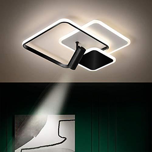 Lámpara De Techo LED Moderna, Luz De Techo De Acrílico Regulable por Control Remoto con Focos Ajustables para Dormitorio/Sala De Estar/Sala De Estudio,Diameter 40cm/15.7in