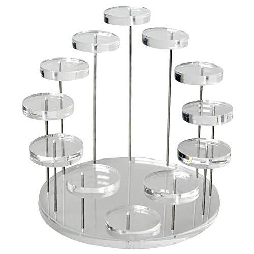 Organizador Joyas Pantalla de anillo de múltiples capas de moda Pendiente del pendiente Pendiente Pendiente de piedras preciosas Showcase de exhibición de la exhibición de la exhibición del escritorio