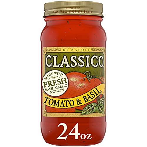 Classico Tomato and Basil Pasta Sauce (12 ct Pack, 24 oz Jars)