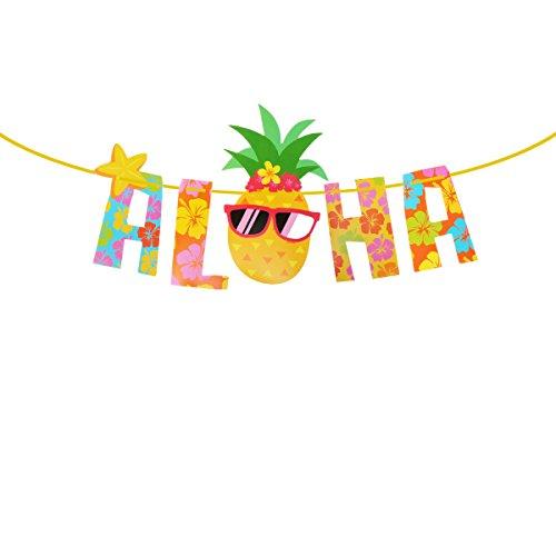 LUOEM Aloha Party Banner Luau Hawaii Thema Party Dekoration liefert Fotografie Requisiten