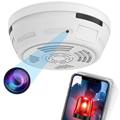 Hidden Camera Smoke Detector, Spy Camera for Home Surveillance with Night Vision Motion Detection, 1080P Security Cameras Indoor Wireless, Nanny WiFi Cam, 180 Days Battery Power