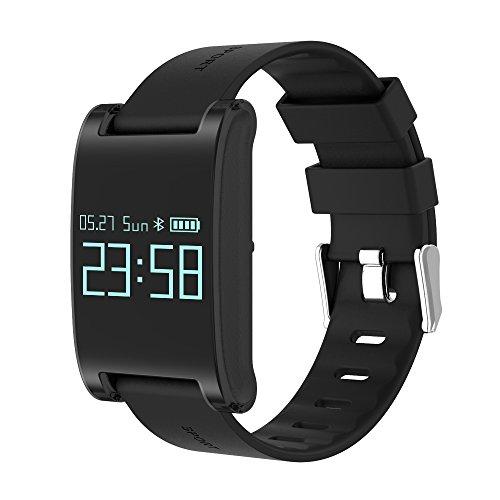 Winnes Smartwatch, Fitness Tracker Pulsera Inteligente Monitor de Ritmo cardíaco Actividad Pulsera Podómetro Monitor de sueño Calorie Track Step Impermeable para iOS y Android