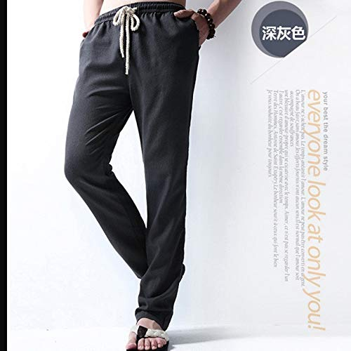 RSL Dunne zomer casual linnen broek mannen linnen broek groot formaat sport wind retro Chinese katoenen broek rechte mannelijke