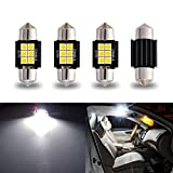 iBrightstar Newest 9-30V Extremely Bright DE3175 DE3021 Festoon Error Free 1.25' 31mm LED for Interior Map Dome Lights and License Plate Courtesy Lights, Xenon White