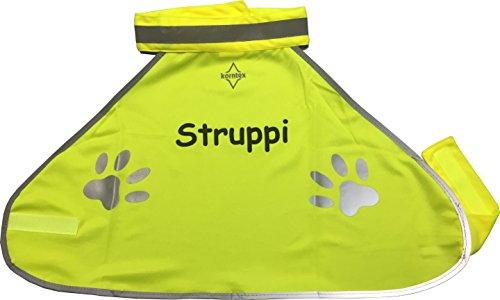 Nashville print factory Warnweste Hund Sicherheitsweste Hundewarnweste Bedruckt mit Name (M)