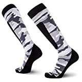 Midweight Camo Snowboard Socks – Merino Wool Winter Cold Weather OTC Ski Sock – Great for Snowboarding, Skiing, Snow Shoeing, Outdoors (M, Snow)