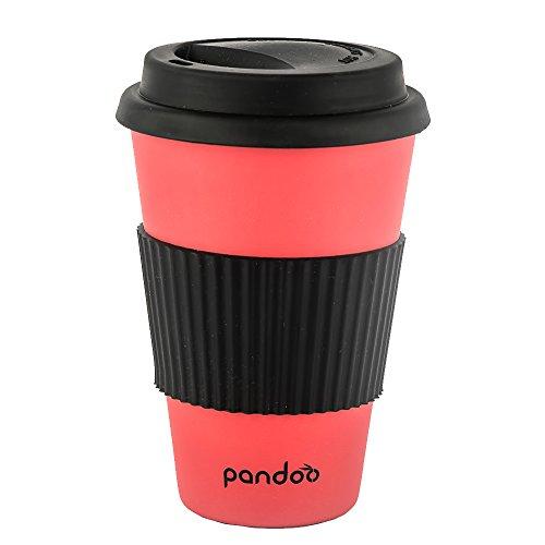 Pandoo Tazza da caffè da portare 450 ml rosso