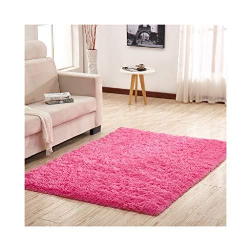 Kamer Living Plush Fluffy Carpet modern zijdetapijt langpolig woonkamer salontafel rechthoekig nachtkleed slaapkamertapijt (kleur: H, grootte: 40 x 60 cm)