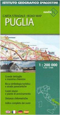 Puglia 1:200 000. Ediz. multilingue (Carte stradali regionali d'Italia)