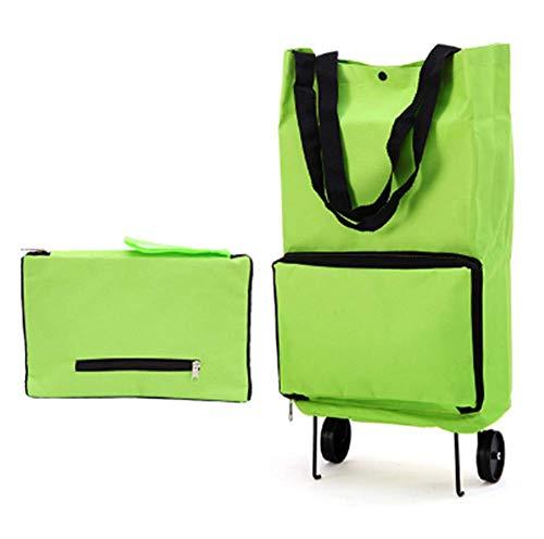 Acisplots Moda Plegable Carro de Compras para el Hogar Carrito de Compras Reutilizable Portatiles de Almacenamiento Ecológicos Portátiles Bolsas Grandes con Asas