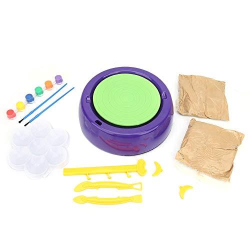 Rueda de cerámica, rueda de arcilla, que combina con la operación, respetuosa con el medio ambiente, no tóxica y duradera, para kit de arte de rueda de cerámica, juguete para niños