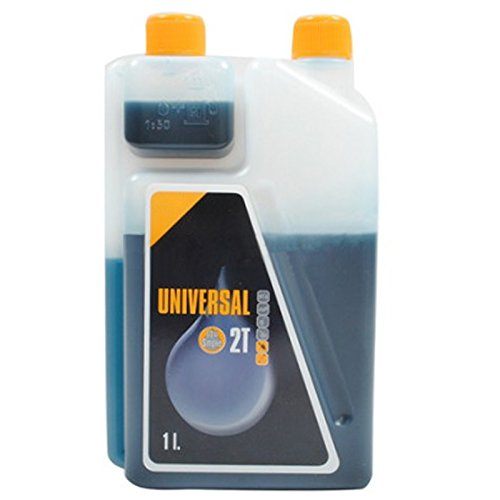 SPARES2GO Universal 2 Stroke Oil Lubricant for McCulloch Chainsaw (1 Litre, Pack of 1)