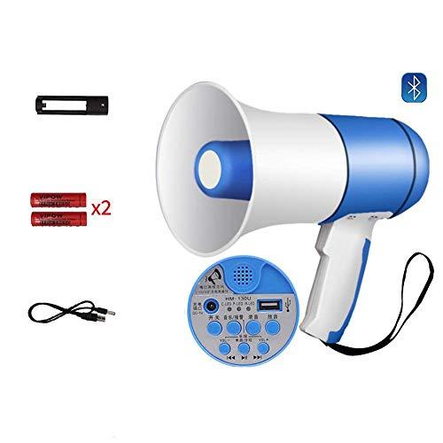 Zixin Tragbare Bluetooth-Handheld-Verstärker mit eingebautem Alarm, einstellbare Lautstärke 520 Sekunden Aufnahme Megafon, Ideal for Cheerleaders, Trainer oder Sicherheitsübungen, B