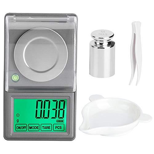 50g/0.001g Peso ligero de alta precisión Mini balanza digit