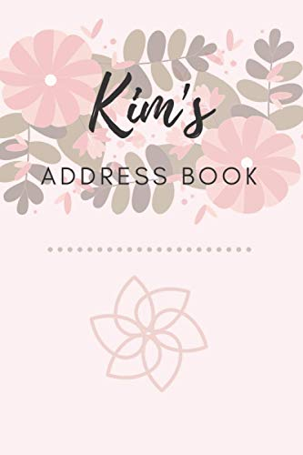 Address Book   Kim: 6 x 9 Inches   208 Entries   104 Pages   Contact Book   Alphabetical with Letter on Each Page   Name   Address   Phone   Numbers   Email   Notes