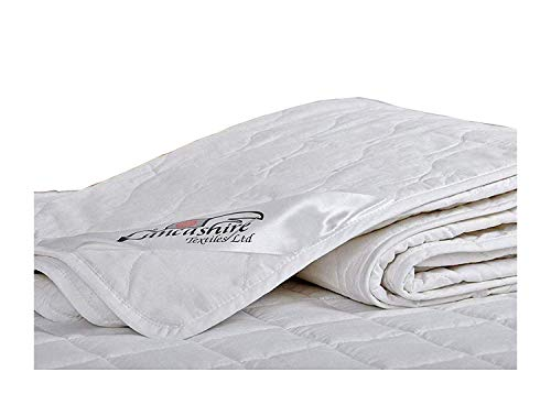 Premium 1 Tog 100% Pure Cotton Filled Summer Duvet Quilt from Lancashire Bedding - King