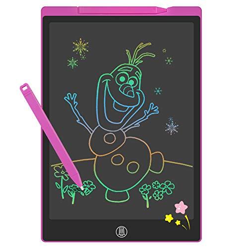 GUYUCOM Tavoletta Grafica Bambini da12 Pollici, Lavagna Magica per Bambini,Tavoletta Grafica LCD con Linee Luminose Colorate per Bambini, Grande Lavagnetta Cancellabile Bambini per Ragazze dei Ragazzi