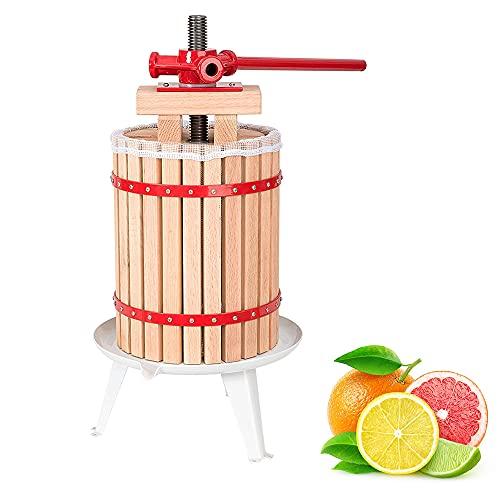 wolketon Obstpresse 6L Saftpresse Entsafter Mühle Fruchtpresse weinpresse Presse Frucht mit 1 Presstuch