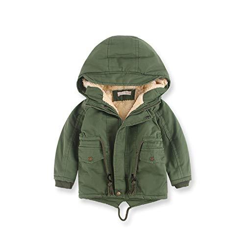 Chaqueta de invierno para niños al aire libre cálida y a prueba de frío con capucha, adecuada para deportes al aire libre, esquí para niños y niñas de 1 a 9,2130 cm