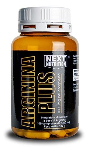 Arginina 1000 mg   100 compresse 130 gr Amminoacido Essenziale Incrementa la Crescita Muscolare e la Forza Alza i Livelli di Ossido Nitrico   Favorisce la Sintesi delle Proteine   Vigore Sessuale