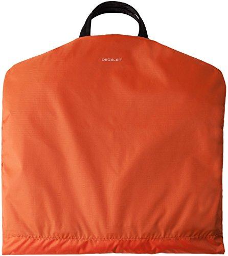 Business Kleidersack für Anzüge - Kleiderschutz-Hülle faltbar & wasserabweisend - optimal für Flugzeug-Reisen nur mit Handgepäck - SkyHanger DEGELER Anzugtasche & Business-Tasche für Herren, orange, 5