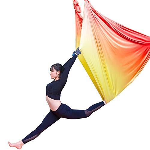 Hamaca de Yoga,Degradado de Color Yoga Swing,500cm Yoga Antigravedad Hamaca,Pilates AéRea la Hamaca de Columpio de Yoga El Equipo de la Danza AéRea Aerial,5