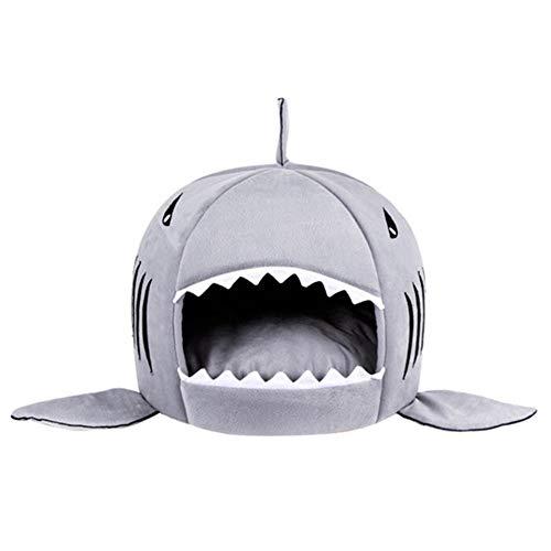 Mike Wodehous Pet Schlafsofa Welpen-Haustier-Haus-Matten-S/M Größe for Hundekatze Shark Warmer Innen Kätzchen Hund Katze (Color : Light Blue, Size : S)