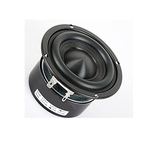 Wnuanjun 1 stück 3 Zoll Subwoofer Lautsprecher 4 8 Ohm 25w HiFi Runde Bass Lautsprecher Schwarz Alumina Keramikkappe Bass Big Magnetstahl DIY Lautsprecher (Größe : Round 4 ohm Speaker)