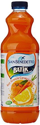 San Benedetto Batik Succoso Bevanda Analcolica A Base Di Succo Di Frutta Con Vitamine, Arancia, Carota, Limone - 1500 Ml