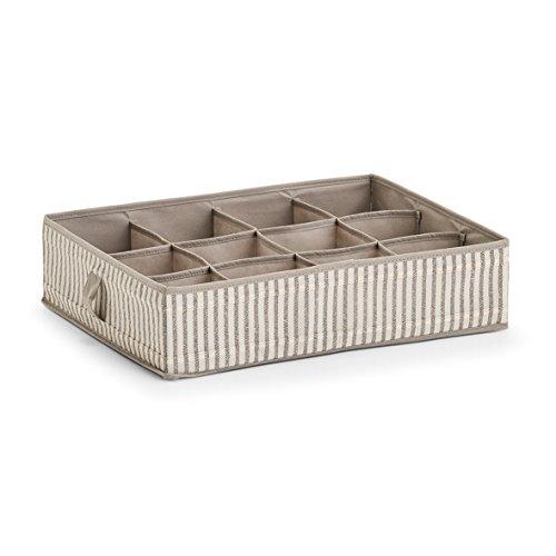 Zeller Aufbewahrungsbox, Vlies, Beige, 44 x 34 x 11 cm