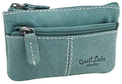 Gusti Cuero Studio Rook Cartera Monedero Llavero Funda de Cuero para Llaves Vintage Retro Azul Turquesa 2A92-22-12