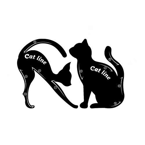 Kapian Eyeliner Schablone Katze Form Cat Vorlage Smoky Lidschatten Applikatoren Augen Make-up Werkzeug Katzenauge Gelockt Modell Stempel Kosmetik Schwanz Schablonen Formungswerkzeug Augenbrauen Karte