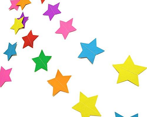 4 meter Star Paper slinger opknoping decoraties voor bruiloft verjaardag partij kinderkamer Baby meisjes slaapkamer Large Paper Star Regenboog