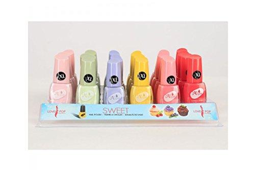 6Stück Nagellack Sweet–Pastell–Hellrosa–Grün–Violett–Gelb–Pink–Rot–Lovely Pop