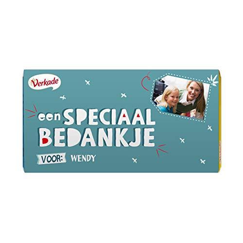 Verkade chocoladereep bedrukken - Bedankje (Hazelnoot)