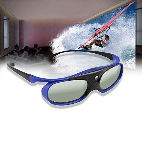 SAHUD Prima Batería Universal DLP Obturador Activo 3D Gafas 96-144Hz, for XGIMI Optoma Acer Viewsonic Proyector del Teatro casero TV en 3D