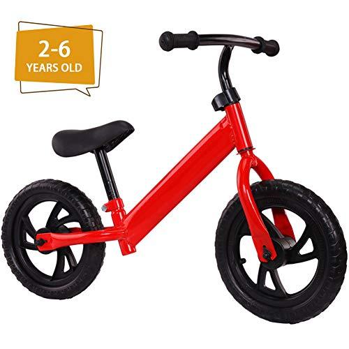 LAYG-Fahrrad Classic Kinderlaufrad, Kinder Laufrad Lauflernrad Balance Bike, Sport Fahrrad für Junglen und Mädchen ab 2-6 Jahre/Red