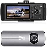"""Boomboost 2.7""""TFT LCD de Doble cámara DVR del Coche R300 X3000 grabadora de vídeo GPS 3D G-Sensor CAM DVR Coche"""