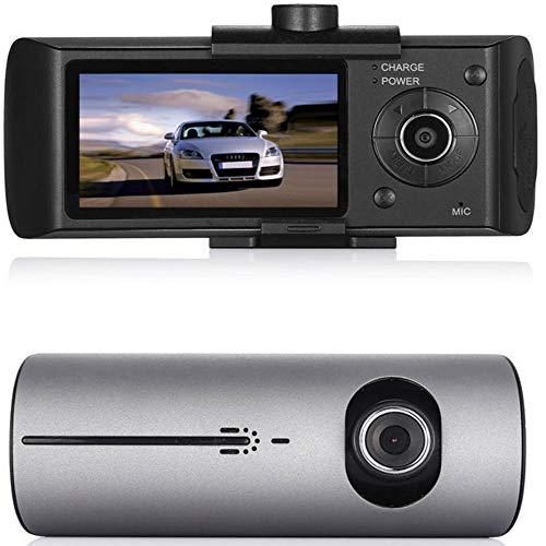 Boomboost 2.7'TFT LCD de Doble cámara DVR del Coche R300 X3000 grabadora de vídeo GPS 3D G-Sensor CAM DVR Coche