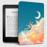 Funda para Kindle,Funda Kindle Paper Crane Cloud Pattern Flip Back Case Compatible con Kindle Paperwhite 10Th Generation Kindle 7Th Generation Auto Sleep / Wake, No.J9G29R